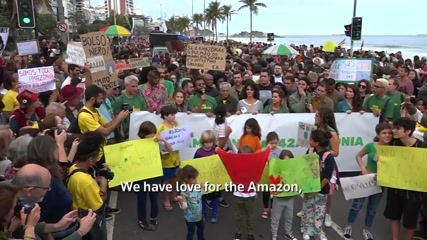Protesters in Rio rally for the Amazon