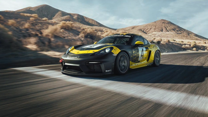 New Porsche 718 Cayman GT4 Clubsport featuring natural-fibre body parts