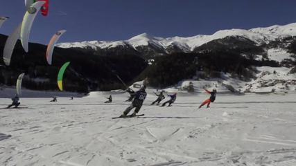 Spectacular World Cup of Snowkiting gets going in Italy