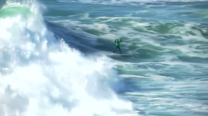 Grant Baker wins Big Wave Nazare challenge