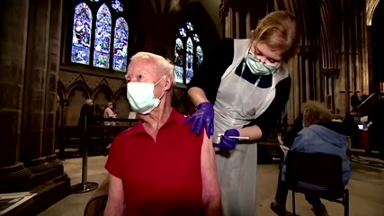 British cathedral turned into vaccination center