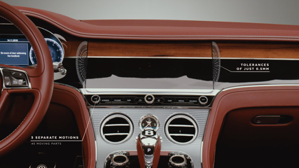 Bentley Continental GT Convertible - Bentley Rotating Display Graphical Overlay