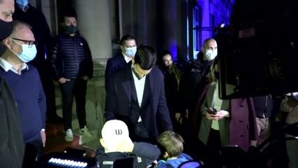 Record-breaking Djokovic treated to City Hall display in Belgrade